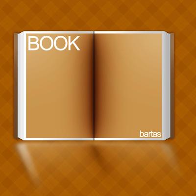 Открытая книга с желтыми листами