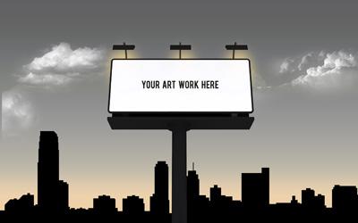 Шаблон для билбордов черный