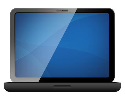 Простой черный ноутбук