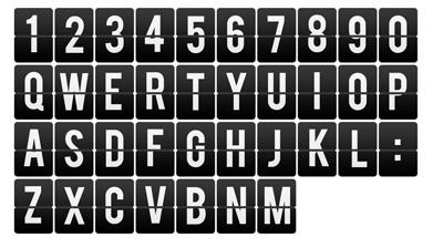Буквы с переворотными частями