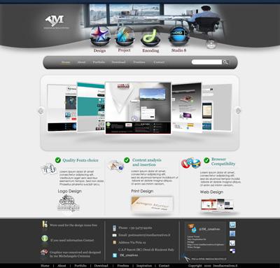 Шаблон сайта дизайн студии