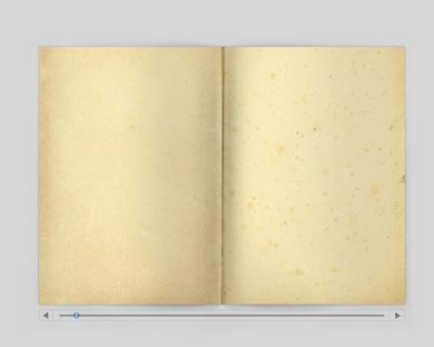 Открытая старинная книга