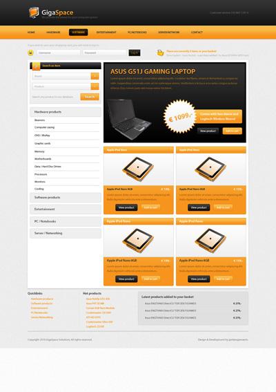 Шаблон сайта интернет магазина компьютерной техники