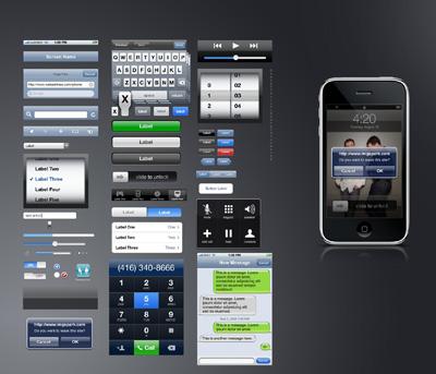 Интерфейс Iphone