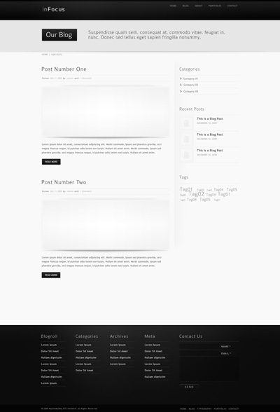 Черно-белый блог