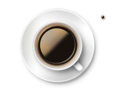 Кружка кофе сверху