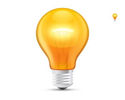 Желтая лампочка