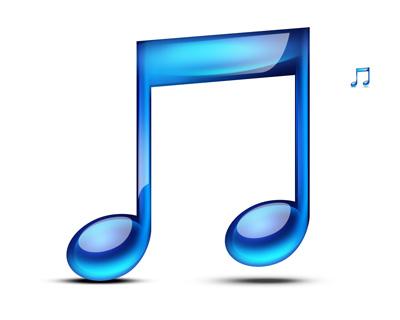 Синяя нота с отличной обработкое