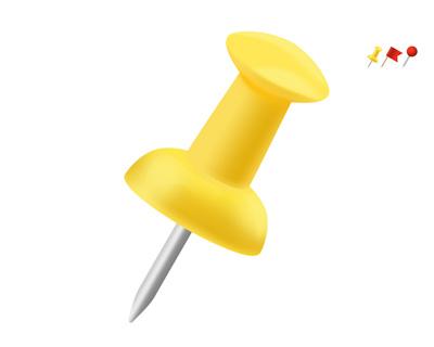 Желтая кнопка с железным жалом