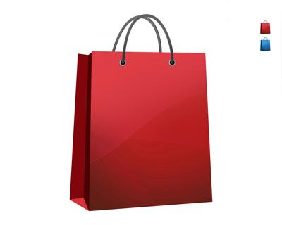 Красный пакет для покупок