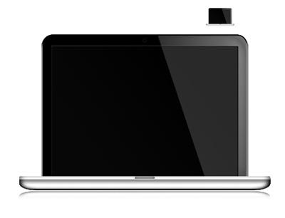 Серый, серебристый ноутбук