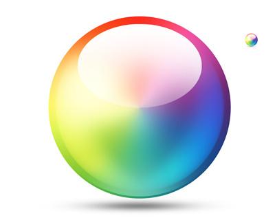 Цветной шар
