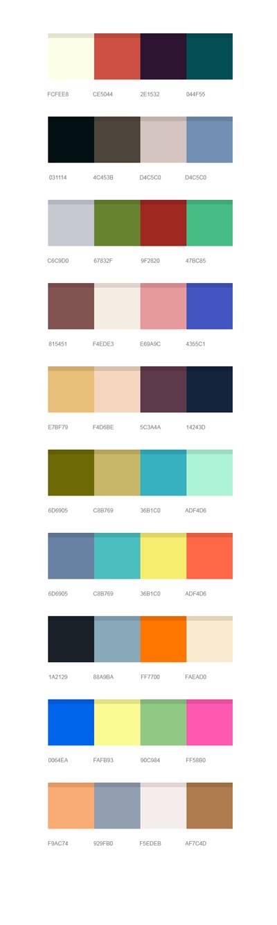 Набор цветов для дизайнеров