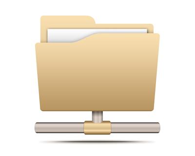Иконка папки, расшаренная папка