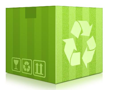 Иконка коробки, зеленого цвета.