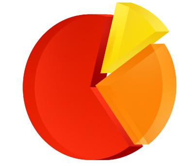 Иконка диаграммы, оранжевая