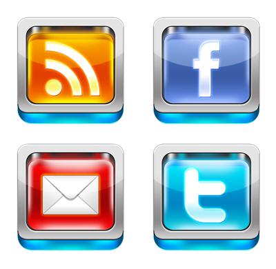 Иконки RSS, социальных сетей и почты