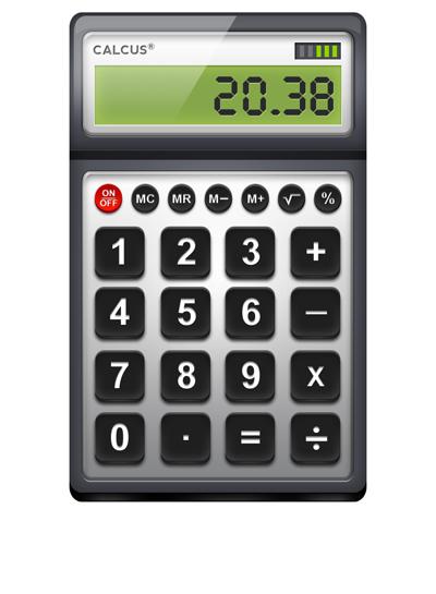 Аккуратный офисный калькулятор