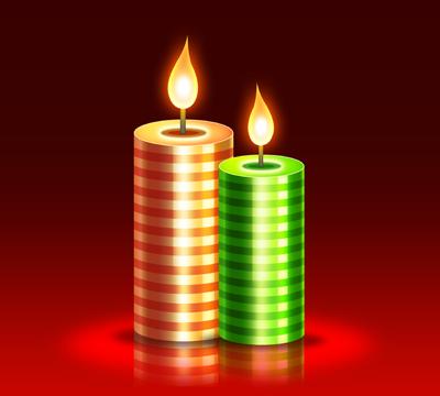 Две свечи в полоску