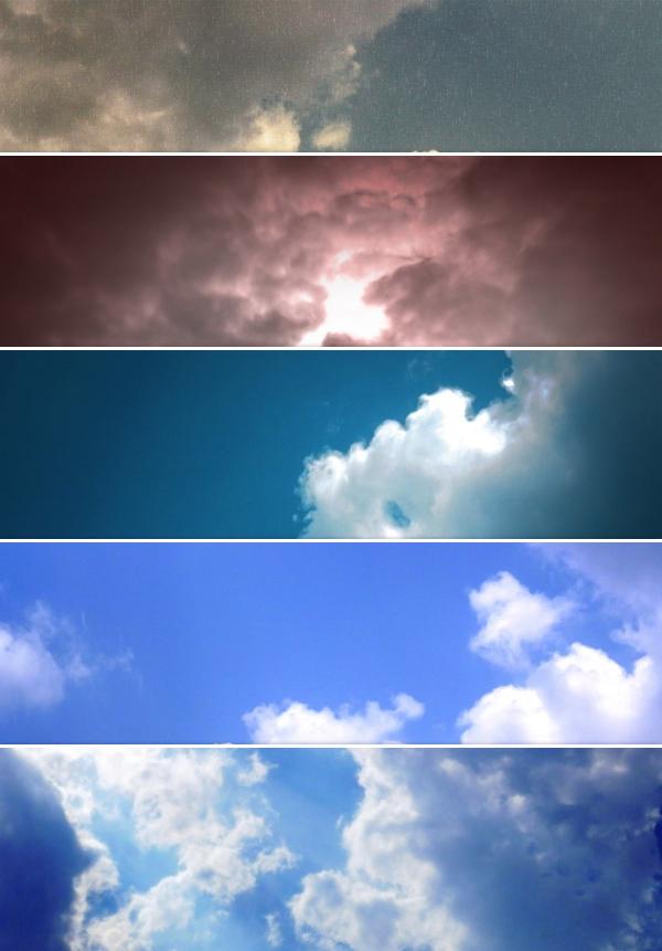 Небо, фоны с облаками