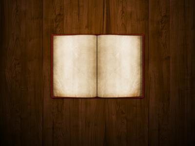 Раскрытая старая книга
