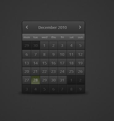 Простой аккуратный календарь