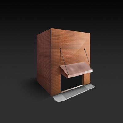 Строительство → гараж кирпичная