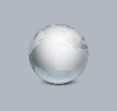 Земной шар серого цвета