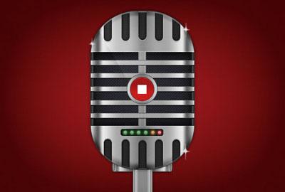 Микрофон в старом стиле