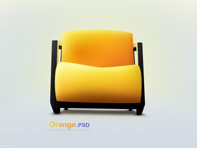 Желтый диван кресло