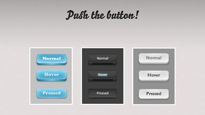 Три кнопки в трех положения