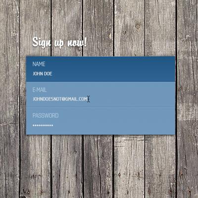 Интересная визитная карточка голубого цвета