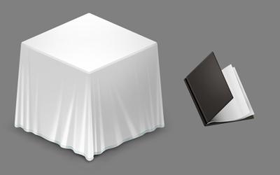 Стол накрытый скатертью