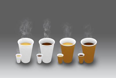Четыре кружки кофе