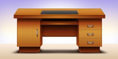 Отличный письменный стол из дерева
