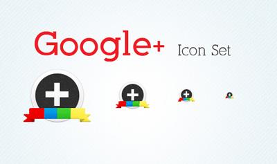 Иконки Google +1, круглые