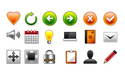 Набор простых иконок для сайта