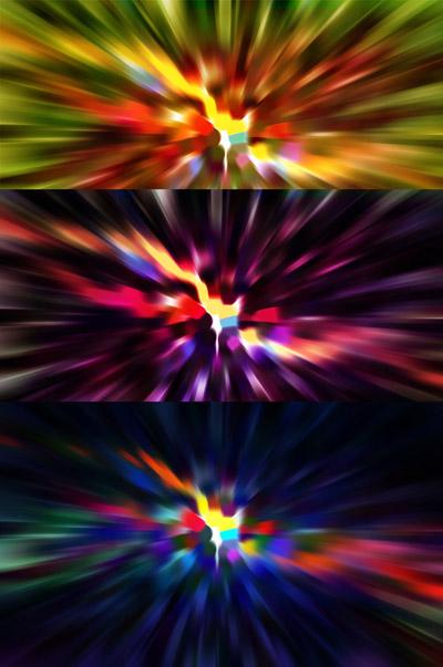 Три цветных фона в движении