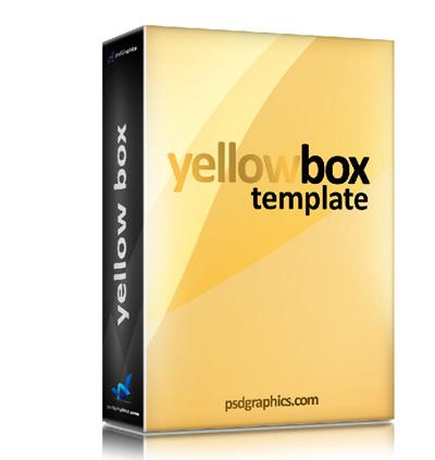 Шаблон коробки желтого цвета