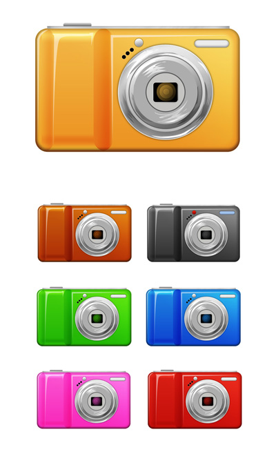 Фотоаппараты в 7 цветах