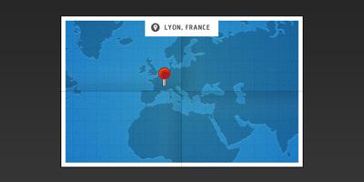 Карта синего цвета