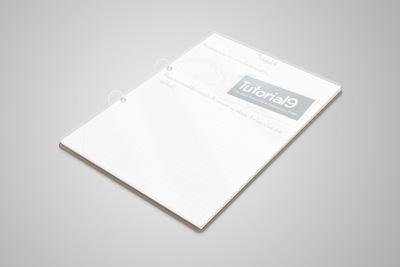 Элегентный прозрачный блок для записей