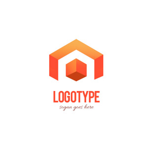 Логотип оранжевого цвета