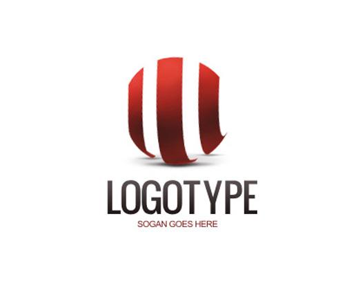 Логотип с тремя вертикальными волнами