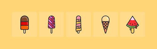 Иконки мороженого