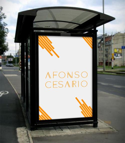 Мокап остановки с местом для вставки рекламы
