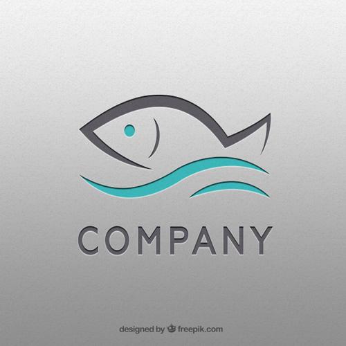 Логотип с рыбой