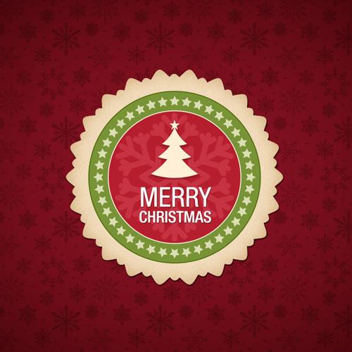 Лейбл для рождества или нового года
