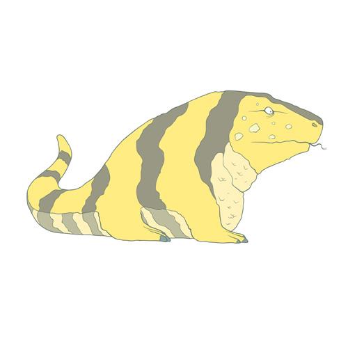Ящерица в стиле Flat