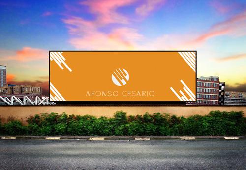 Мокап билборда на фоне города